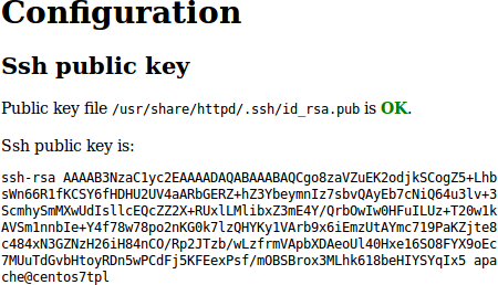 Ssh key created